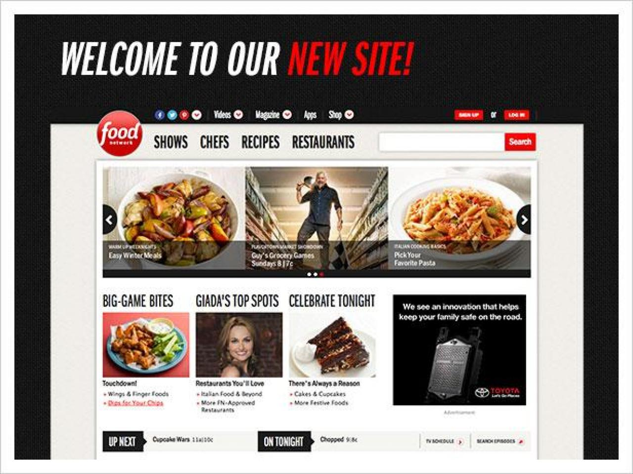 The New FoodNetwork.com Is Here!
