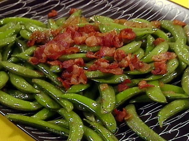 Sugar Snap Peas with Onions and Bacon