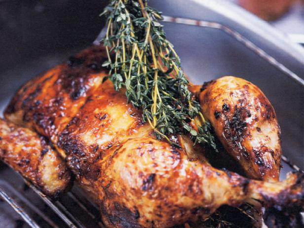 Provencal Roasted Chicken with Honey and Thyme Recipe ...