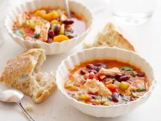 For an easy one-pot meal, serve Giada De Laurentiis' hearty Chicken Stew recipe with crusty bread, from Everyday Italian on Food Network.