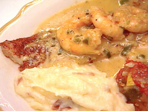 Broiled Fish with Shrimp and Jalapeno-smoked Corn Beurre Blanc