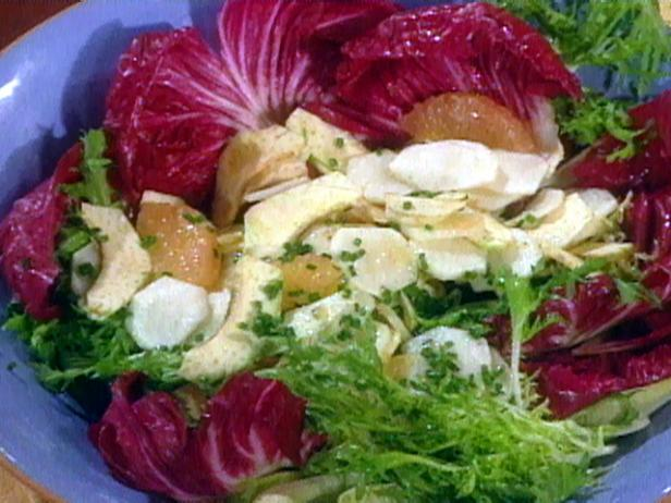 Salad of Shaved Artichokes and Sunchokes with Grapefruit and Chicories