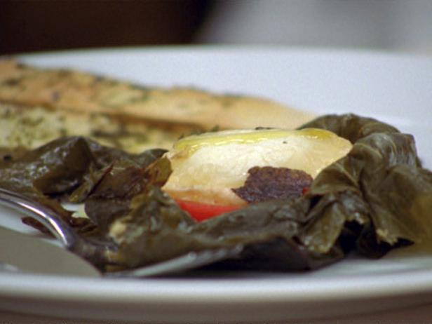 Goat Cheese Wrapped in Vine Leaves