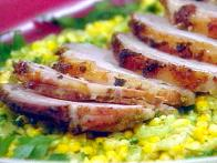 Garlic Crusted Sliced Pork Loin with Fresh...