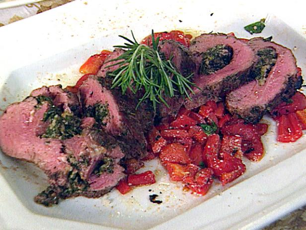 Shaker Herb-Marinated, Spinach-Stuffed Whole Beef Tenderloin