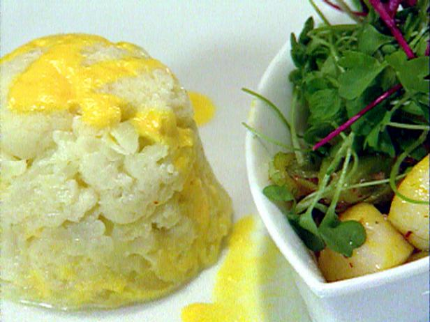 Cauliflower Stuffed with Saffron and Scallop Mousse