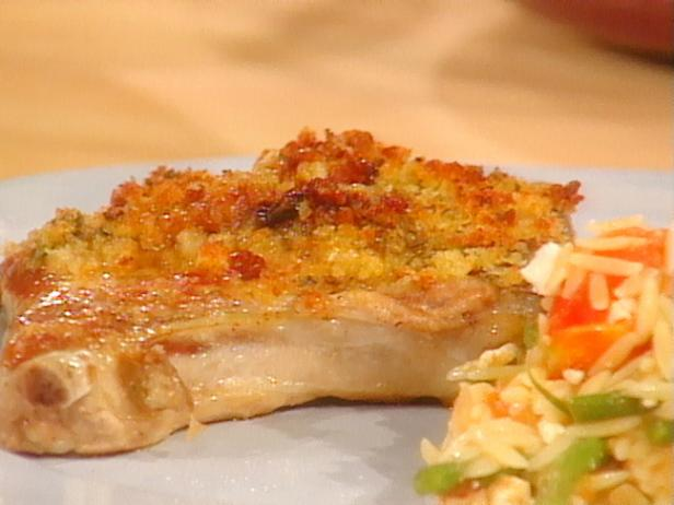 Pork Chops with Mustard Crumbs