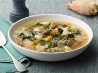 Sausage, Beans and Broccoli Rabe Soup