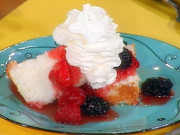 Angel Food Cake and Berries