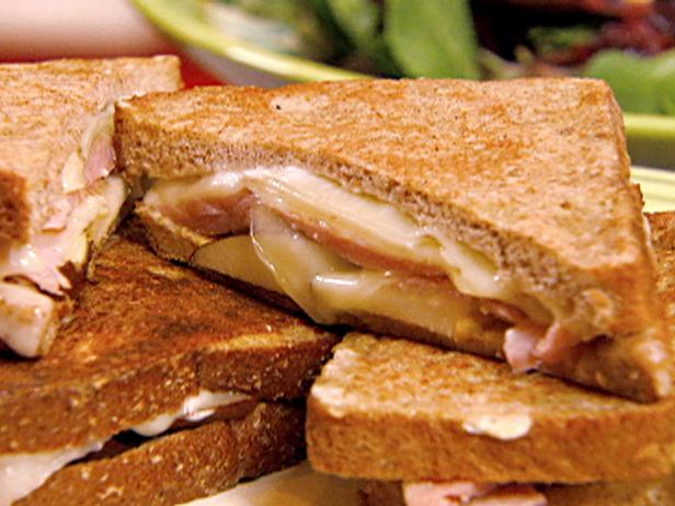 Croque Monsieur Sandwiches with Pears