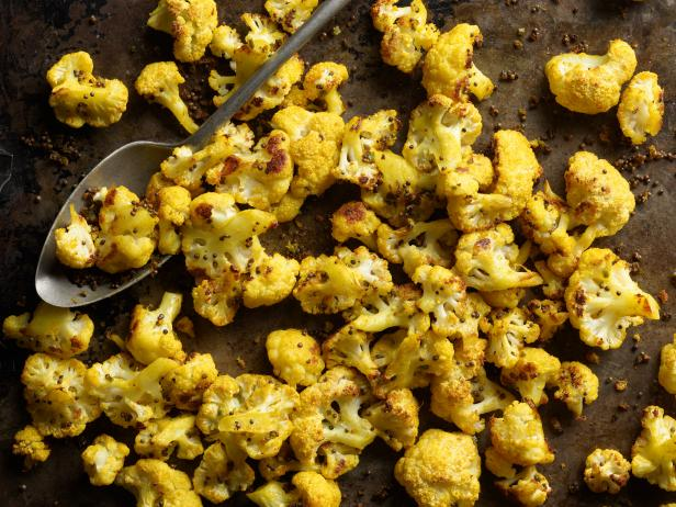 Oven Roasted Cauliflower with Turmeric and Ginger