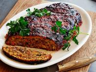 Roasted Vegetable Meatloaf with Balsamic Glaze