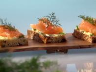 Smoked Salmon on Irish Soda Bread with Chive Butter