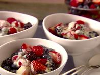 Grapefruit Zabaglione over Mixed Berries