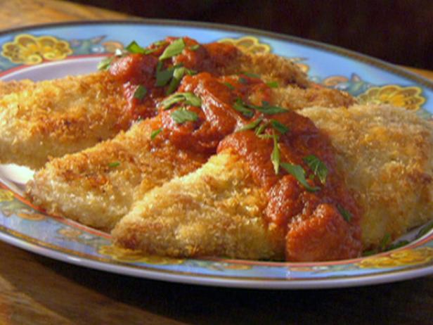 Panko Parmesan Crusted Chicken with Wasabi Tomato Sauce