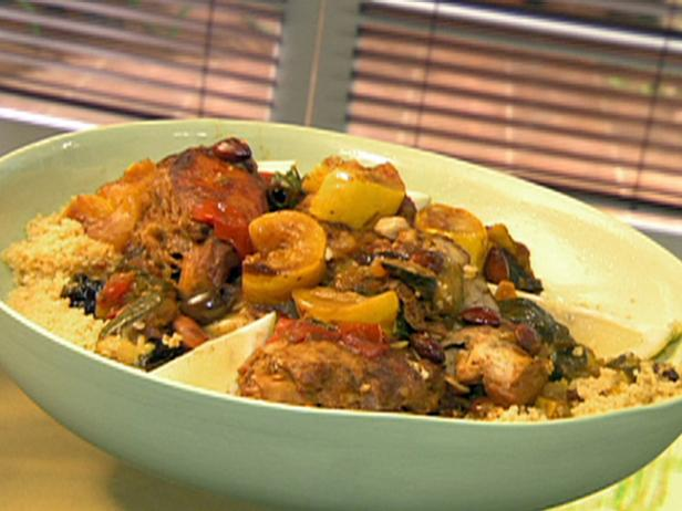 Moroccan Chicken with Squash and Dried Plums