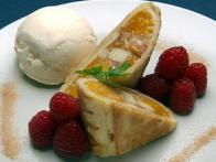Appleberry-Peach Strudel-Style Pastry
