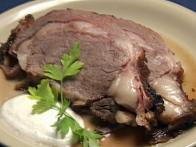 Smoked Prime Rib with Horseradish Cream