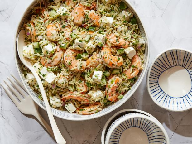Roasted shrimp and orzo recipe ina garten food network Ina garten summer pasta