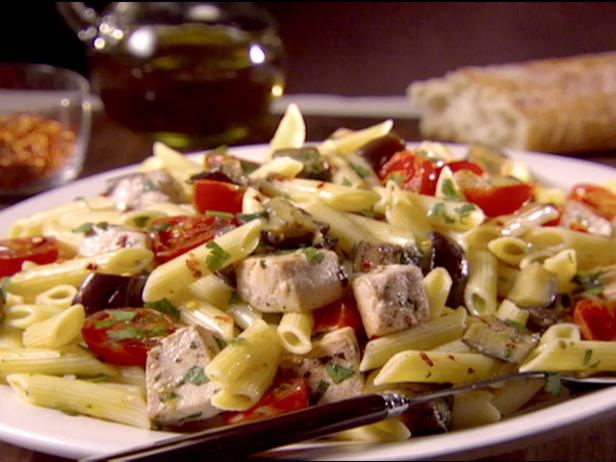 Sicilian Penne with Swordfish and Eggplant