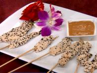 Sesame Chicken Sate with Peanut Sauce