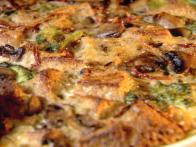 Broccoli, Mushroom, and Cheese Breakfast Strata