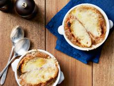 For a taste of the bistro, try Tyler Florence's ultimate French Onion Soup recipe, topped with nutty Gruy�re croutons.