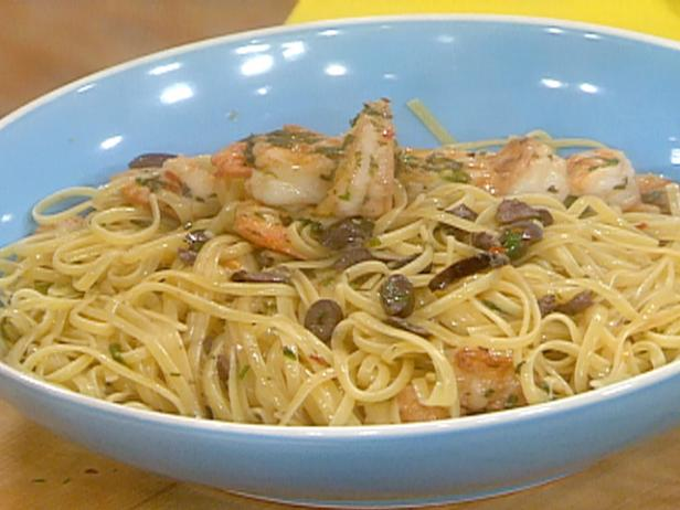 Greek Style Shrimp Scampi and Linguini