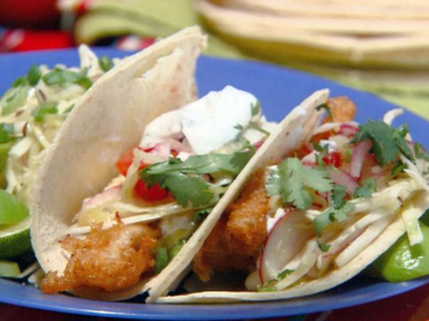Beer and Chipotle-Battered Fish Tacos