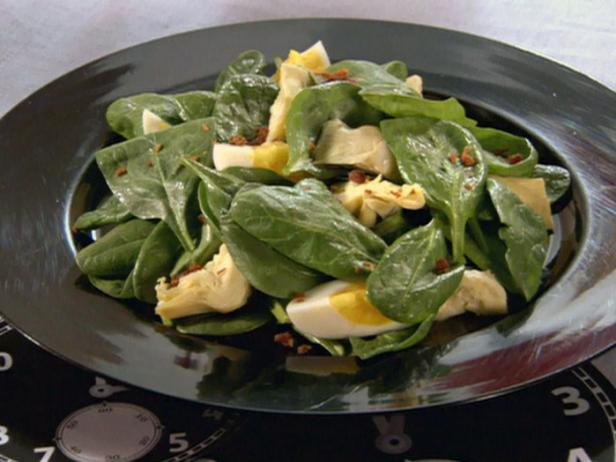 Warm Spinach Salad with Eggs and Bacon