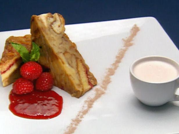 Queen's Bread Pudding with Cold Fruit