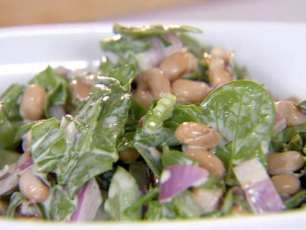 Black-Eyed Pea and Spinach Salad