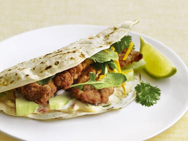 Crackling Fish Tacos with Chipotle Tartar Sauce
