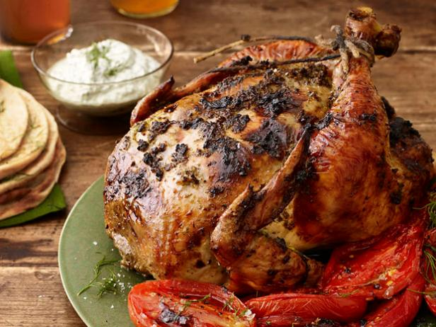 Herb-Roasted Chicken with Melted Tomatoes