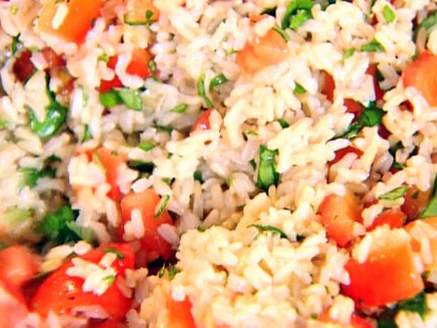 Brown Rice, Tomatoes and Basil