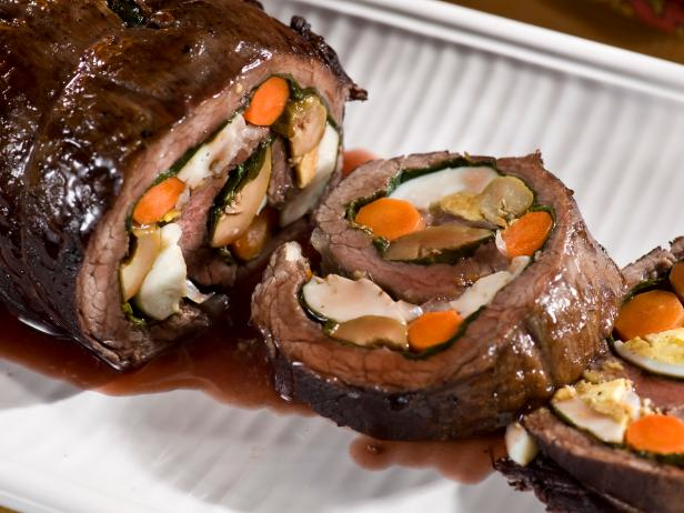 Argentine Stuffed Flank Steak: Matambre Recipe | Tyler Florence | Food ...