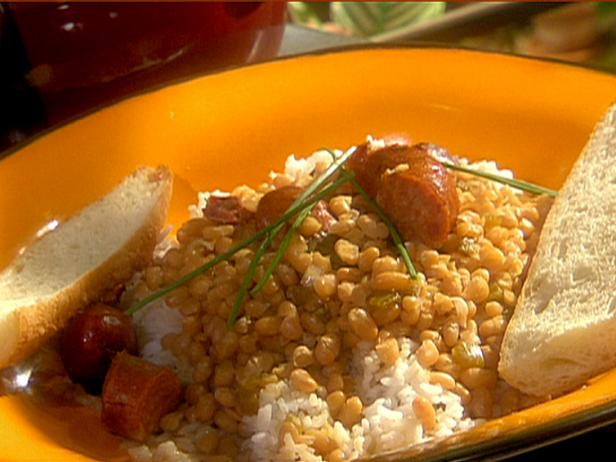 Creole-Style White Beans and Andouille Sausage over Rice