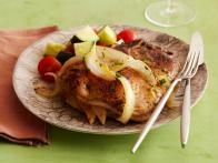 Re0101_apple And Onion Stuffed Pork Chops With Orange Pineapple Gravy