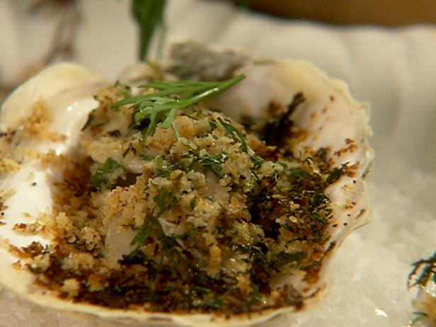 Oysters with an Herbed Crust
