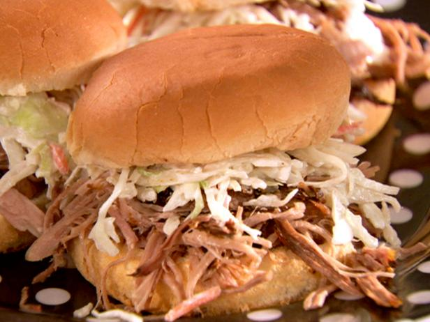 Tangy Pork Sandwiches with Spicy Slaw