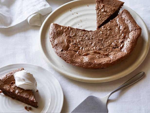 Hazelnut and Chocolate Pie with Vanilla Whipped Cream