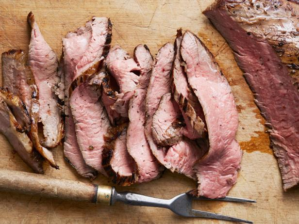 Grilled Flank Steak with Ginger Marinade