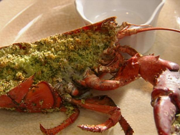Baked Lobster with Garlic Butter Panko