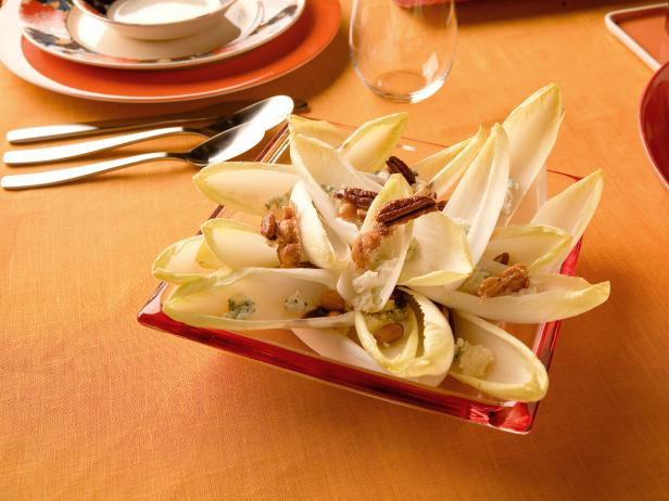 Endive Salad with Candied Pecans and Maytag Blue Cheese