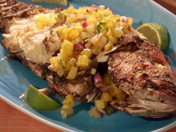 Kevin Nurse's Jerk Red Snapper and Island Salsa