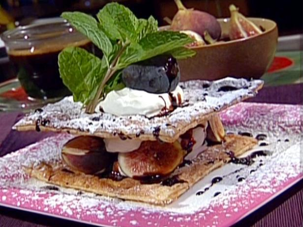 Fig and Balsamic Syrup Mille Feuille
