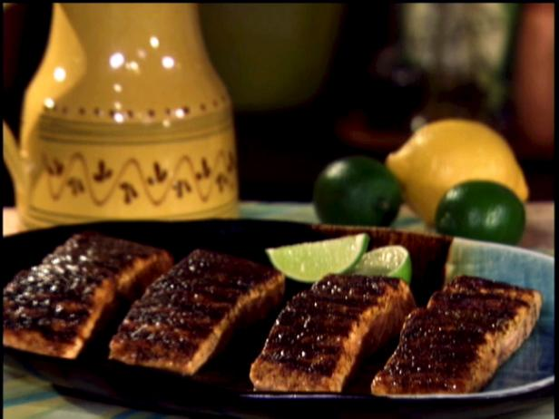 Barbecued Cedar Plank Salmon