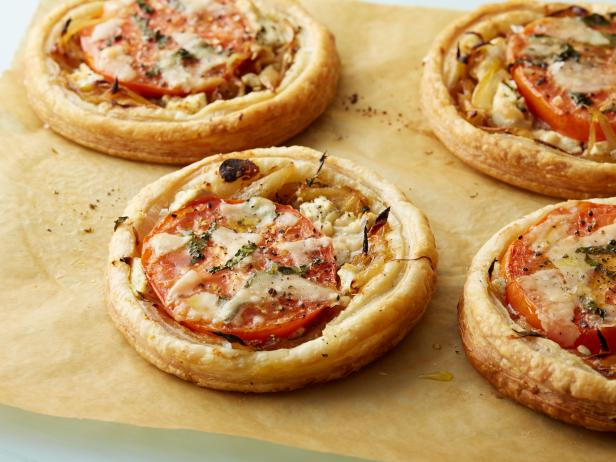 Tomato and Goat Cheese Tarts Recipe | Ina Garten | Food Network