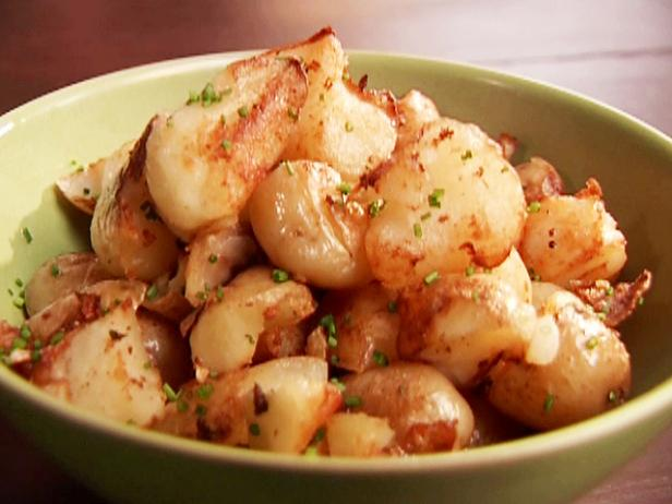 Smashed Potatoes with Chives