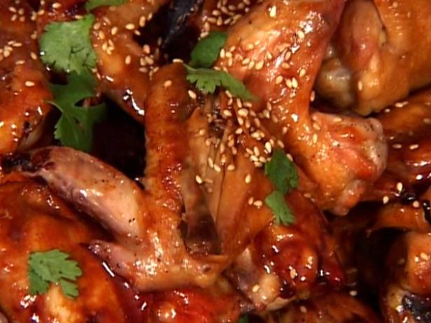 Teriyaki Chicken Wings With Sesame And Cilantro